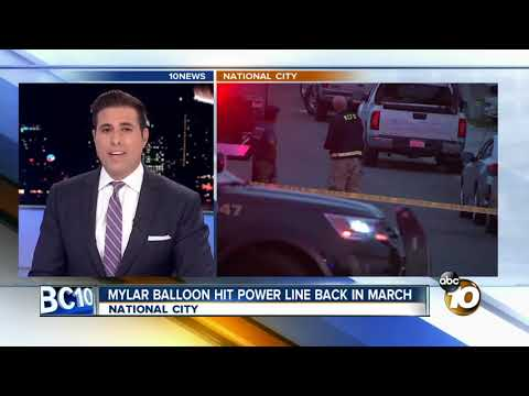 Mylar balloon hit power line last March