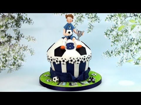 How to make a football cake with footballer model