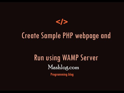 Create Sample php web page with WAMP server