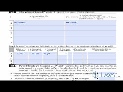 Learn How to Fill the Form 8283Noncash Charitable Contributions
