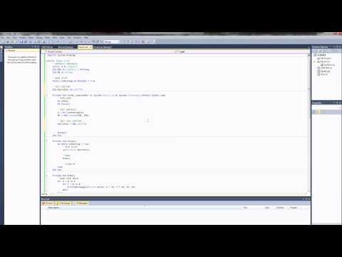 VB.NET Programming Tutorial - Creating Classes and Managing Object Arrays (Visual Basic .NET)