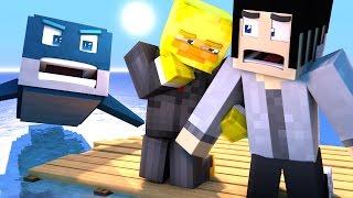 DEADLY SHARK ATTACK! (Minecraft Raft)