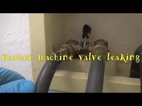 washing machine valve  leaking & hoses replaced