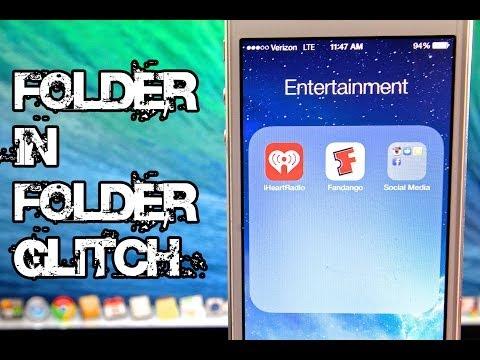 NEW Folder In Folder Glitch iOS 7.1