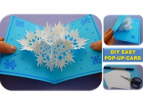 DIY 3D SNOWFLAKE POP UP CARD CHRISTMAS GIFTS EASY IDEAS  SCHNEEFLOCKE