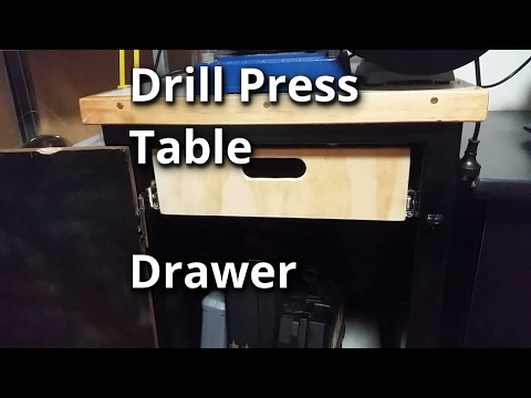 Drill Press Table - Drawer