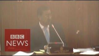 Taliban attack: Moment bomb hits Afghan parliament  - BBC News