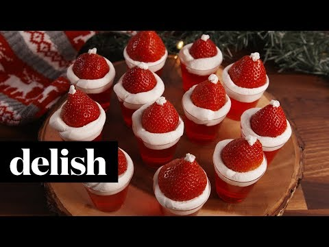 How To Make Santa Hat Jell-O Shots | Recipes | Delish