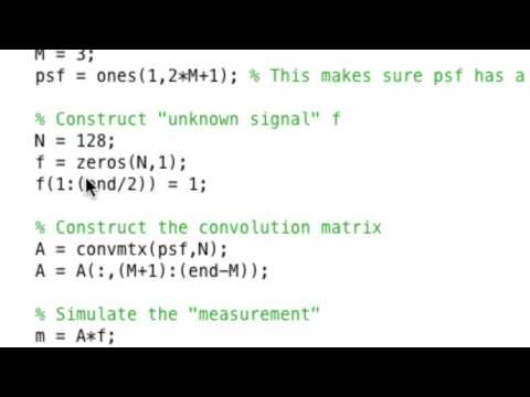Inverse Problems Lecture 2/2017: first encounter with convolution in Matlab