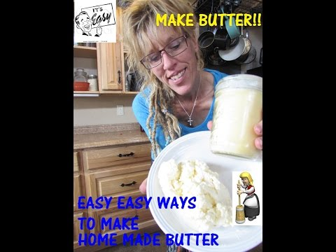 Homemade Butter in JUST 3 minutes