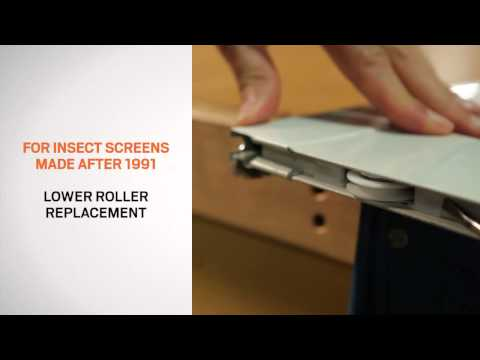 Replacement and Adjustment of Rollers on Andersen® Gliding Patio Door Insect Screens