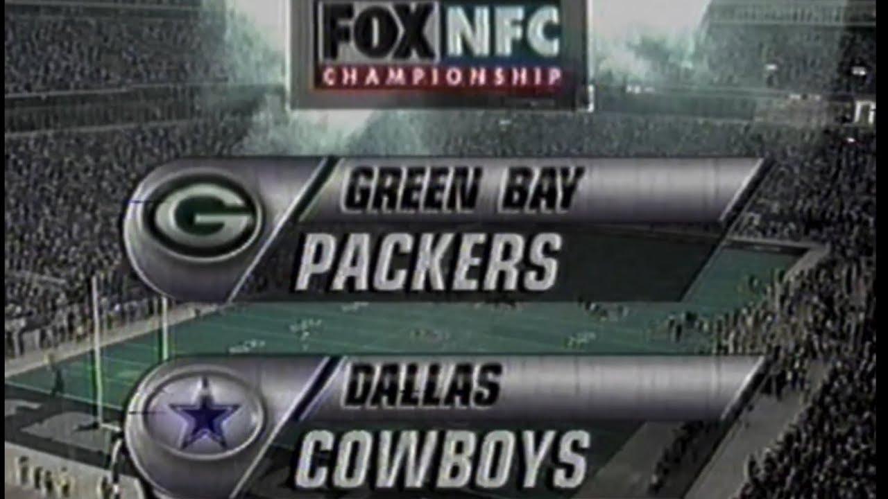 1995 NFC Championship Packers vs Cowboys Highlights (Fox intro)