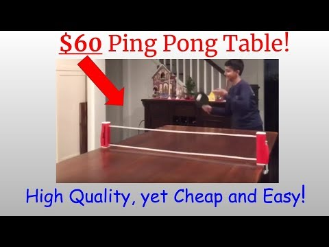 DIY Ping Pong Table! Cheap and Easy!