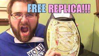 FREE WWE REPLICA BELT!! Wrestling Figures, Toys, INJURY UPDATE FAN MAIL!!