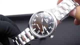 0dae3e0b8a5  REVIEW  Relógio Orient Automático 469SS055 Pilot Pulseira de Aço Fundo  Transparente