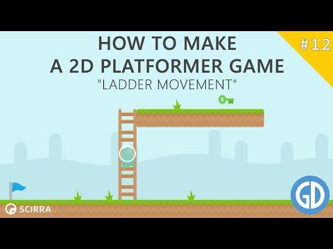 12. How To Make A 2D Platformer Game (Ladder Movement) Construct 2 Tutorial
