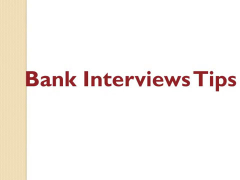 How to Success Bank Interview?