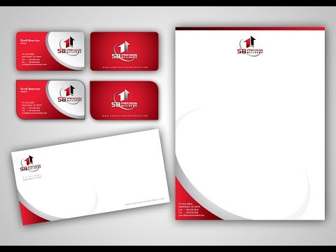 how to make business card , letterhead , business envelope [CorelDraw Tutorial)