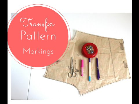 #10 - How to Transfer Markings From A Sewing Pattern