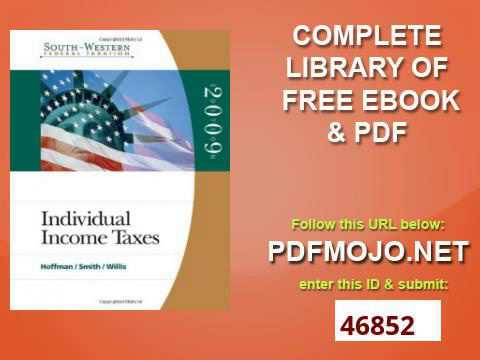South Western Federal Taxation 2009 Individual Income Taxes with TaxCut Tax Preparation Software CD