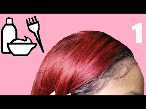Beginners Lace Frontal Series : How to Dye a Frontal Red without Destroying the Lace