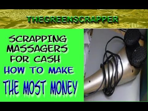 How to Scrap a MASSAGER for Cash   Scrapping MASSAGERS 4 Recycling Metal Money
