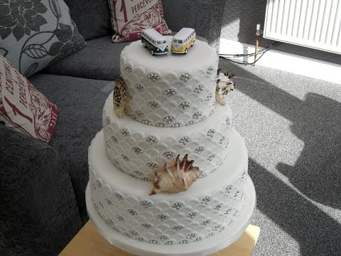 How to make a three layer wedding cake 12