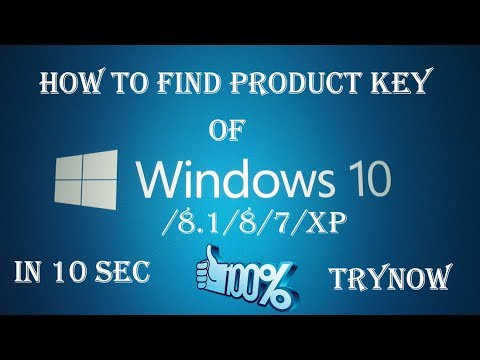 How to get your product key for Windows 7/8.1/8/10
