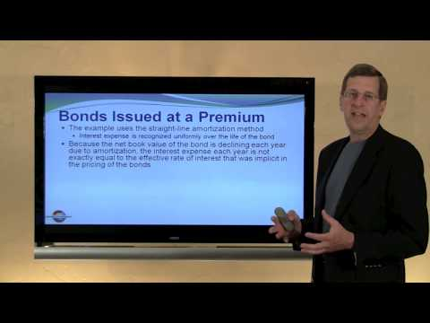 13 -- Bonds Premiums and Discounts / Straight-Line Amortization