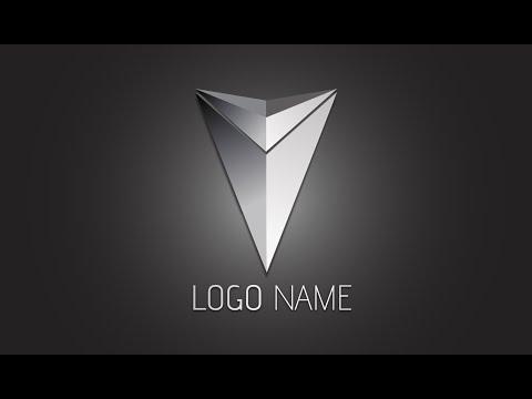 Illustrator Tutorial | 3D Logo Design (Metallic Arrow)