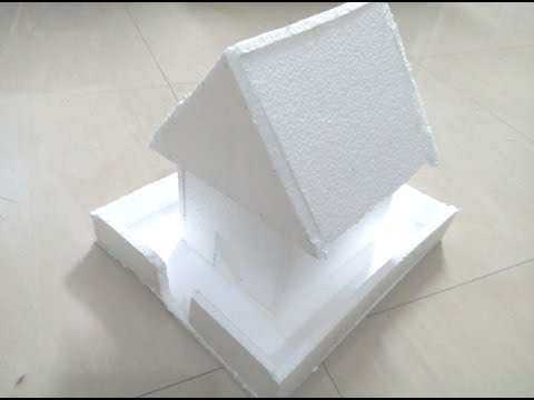 DIY: How to make a house using thermocol - school kids project