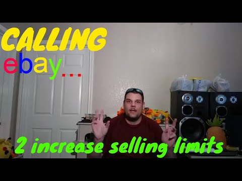 EBAY Requesting Higher Selling Limits Call LIVE!!! - How to increase you selling limits