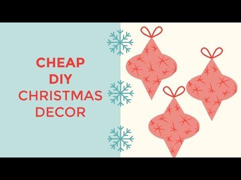 Cheap Holiday Decor DIY | Family Tradition