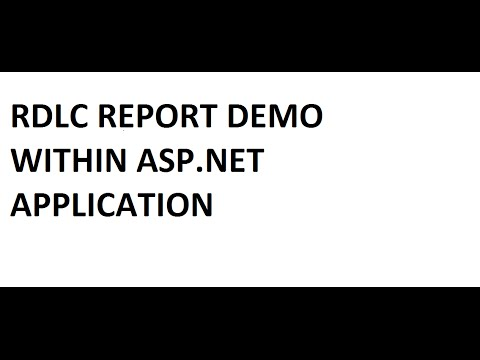 How to create & View simple RDLC report in ASP.NET (C#) ?