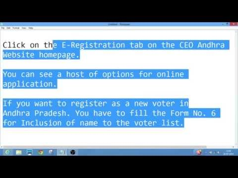 ceoandhra.nic.in AP How to apply for Voter ID Card?