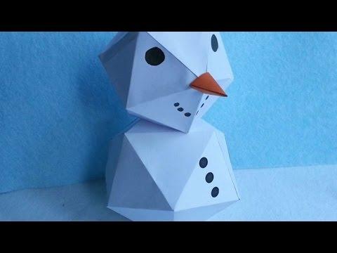 How To Make A Fun Geometric Snowman - DIY Crafts Tutorial - Guidecentral