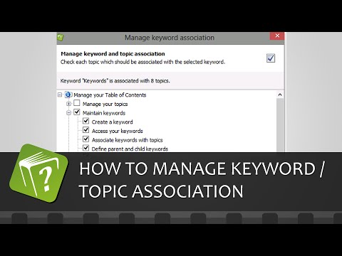 How to manage the association between a keyword and topics (Step-by-step guide)