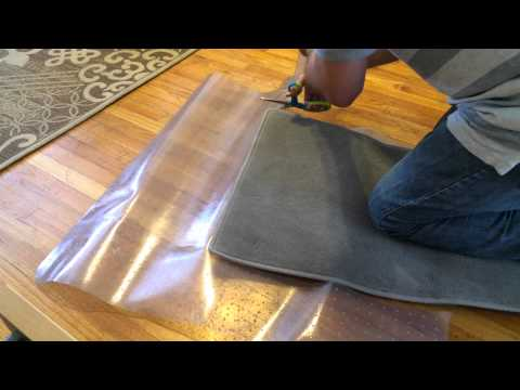 How to Make Free Weather Resistant Car Floor Mats out of Office Chair Floor Mats