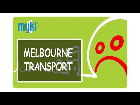 MELBOURNE PUBLIC TRANSPORT - USING MYKI CARD