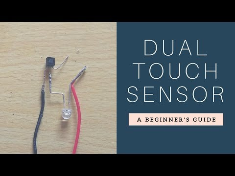 How to make two simple touch Sensor Circuit  Using Transistor ?