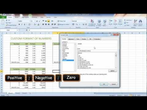 How To Custom Format Numbers In Excel