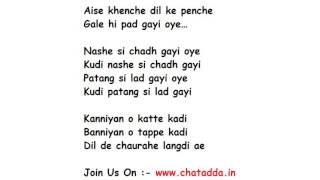 Nashe Si Chadh Lyrics Full Song Lyrics Movie - Befikre