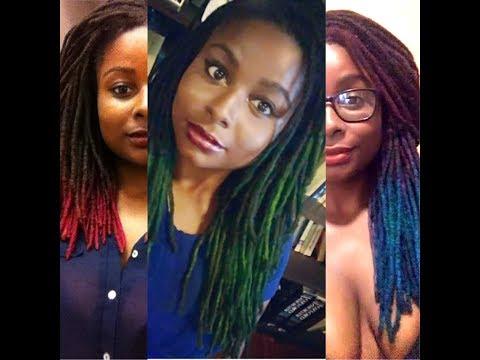 How I Dye My Dreadlocks Bright Colors