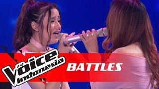 Virzha vs Bella - Shallow (Lady Gaga, Bradley Cooper) | Battles | The Voice Indonesia GTV 2018