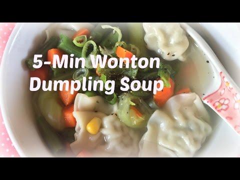 Easy Wonton Dumpling Soup In 5 Minutes