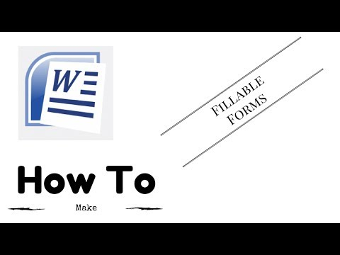 How to Make Fillable Forms On Microsoft Word (2016)