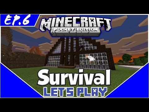 Survival Let's Play EP.6- A GREENHOUSE! -Minecraft PE(Pocket Edition)