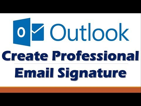 How to Create Email Signature for Microsoft Outlook 2016 | 365 | 2013