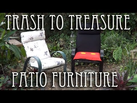 Upcycling patio chairs into unique custom themed design