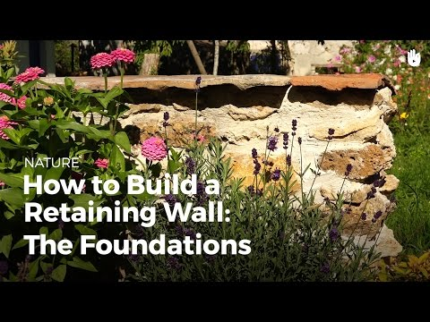 How to Build a Retaining Wall: The Foundations | DIY Projects